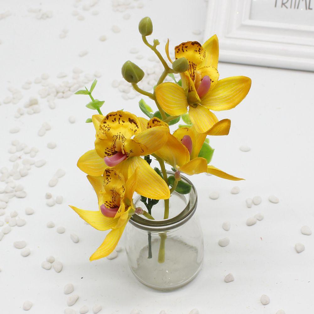 1pcs Artificial Butterfly Orchid Silk Flower for Home Garden Phalaenopsis Bouquet wedding Decor fake simulation flower