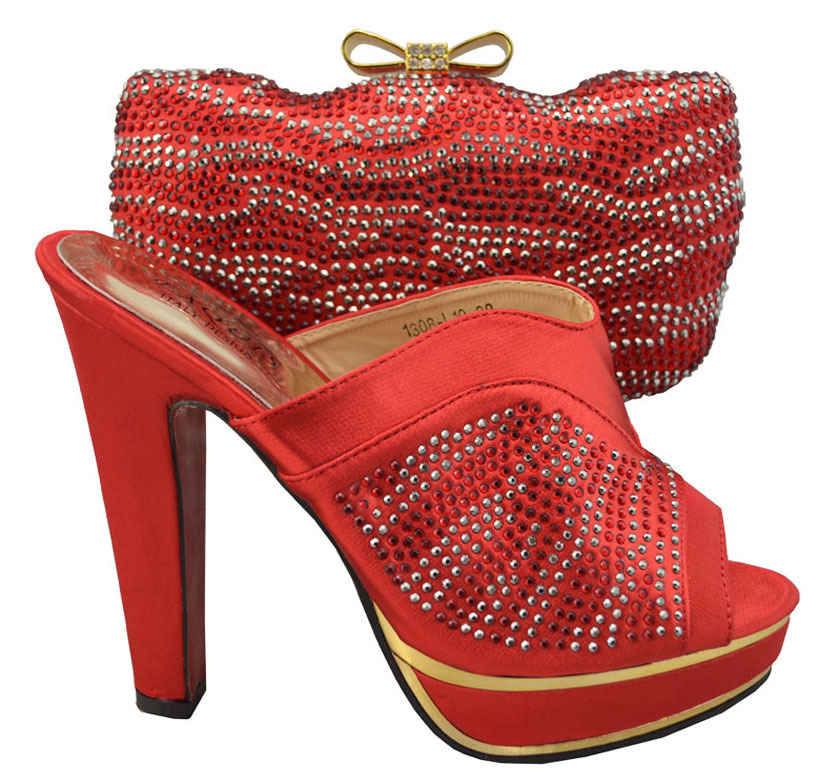 Red Italian Shoe And Bag Set