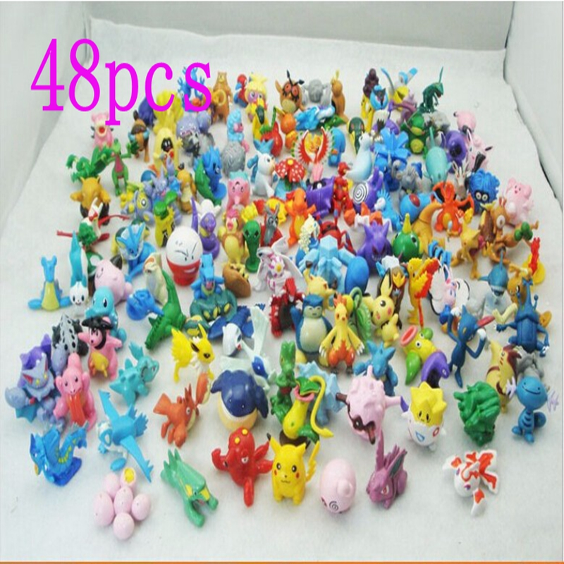 48 pcs/lot - Pokemon model Toys Figures PVC action toy figures 2-3 cm Mini Pokemon Animal model doll Random delivery kids toys(China (Mainland))