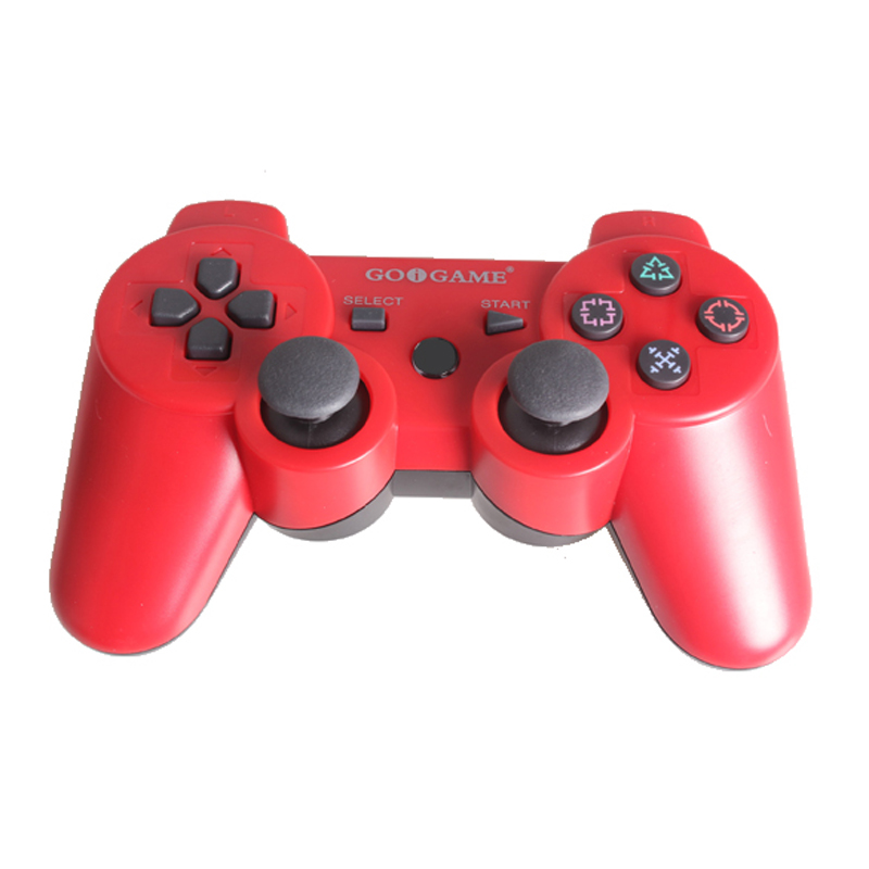 wireless double analog sticks game joystick gaming controller gamepad joypad vibration six axis for ps3 - Manette Ps3 Color