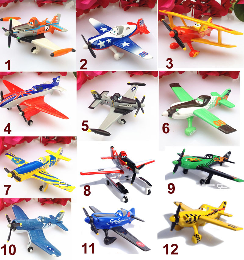 1pcs kid's Miniatures cartoon Planes Airplane dusty air plane Die cast alloy metal collectible models airplanes toys For boys(China (Mainland))