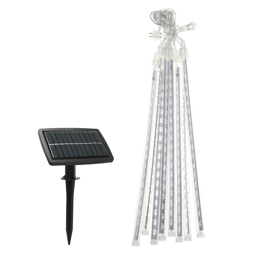 50cm 100LM Solar LED Meteor Shower Rain Tubes Colorful Light Waterproof Lamp Tube Courtyard Garden String Light for Holiday(China (Mainland))