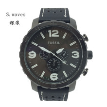 New s waves Wristwatch Quartz Watch Date DZ Men Leather fossiler Casual Fashion Army table Stainless
