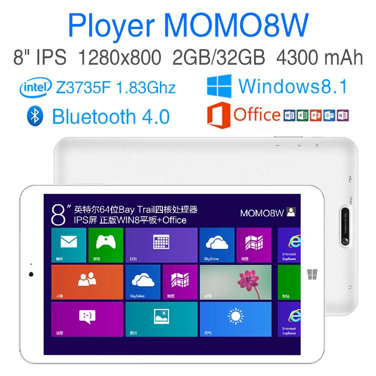 Intel Quad Core 1.83Ghz Windows 8.1 tablet pc 8 inch IPS screen RAM 2GB ROM 32GB Games computer ultrabook laptop Ployer MOMO8W(China (Mainland))