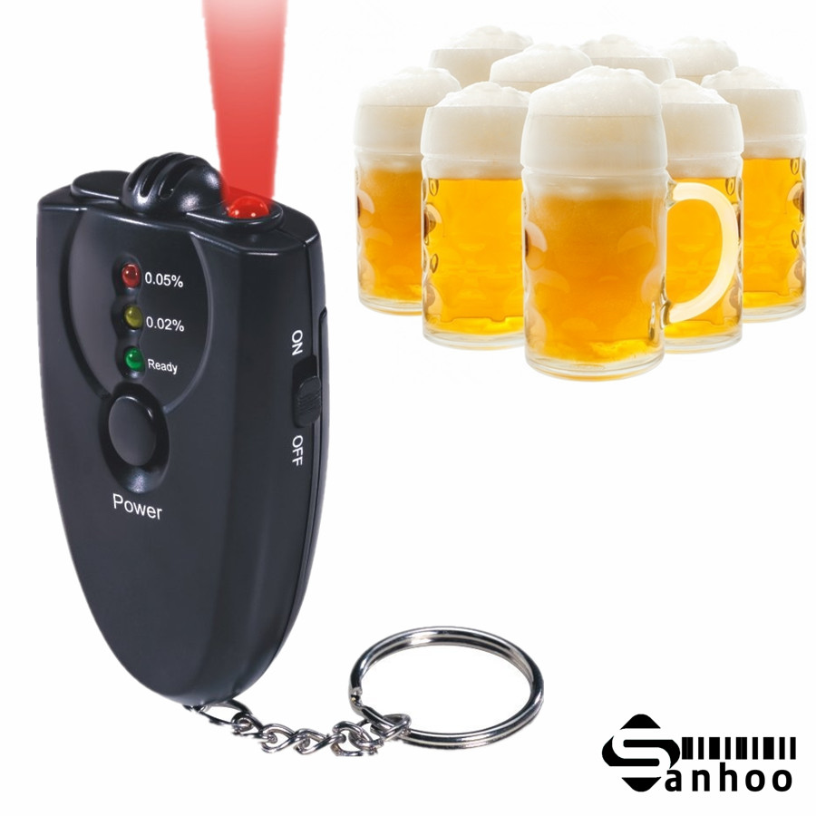 Digital Breathalyzer Key Chain Alcohol Tester Alcohol Breath Analyze Tester with flashlight(China (Mainland))