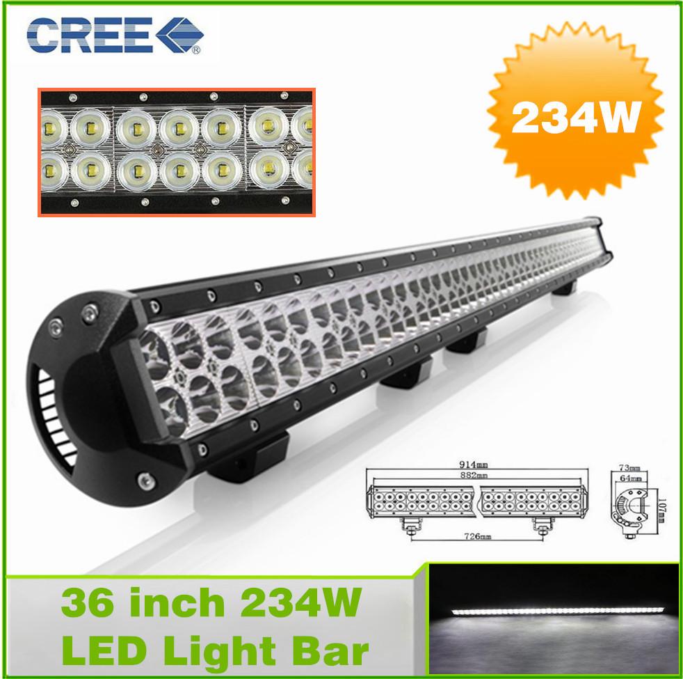 36 inch 234w led light bar for road driving drl offroad boat car truck 4x4 suv atv fog spot