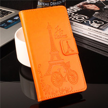 Blackview Ultra A6 Case Luxury Elegant Flower Tower Embossing Leather wallet flip protective cover case for Blackview Ultra A6