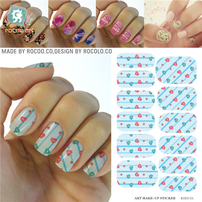 Blue Fresh Cartoon Flowers Water Transfer Design Nails Stickers Manicure Styling Tools Water Film Paper Decals(China (Mainland))