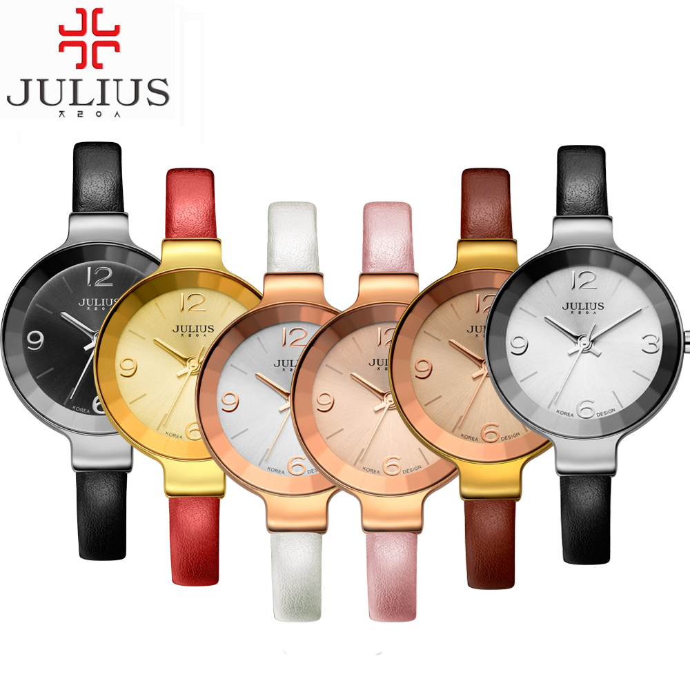 2016 JULIUS Women Ladies Wirstwatch Genuine Leather band Simplicity casual Fashion for lovers Waterproof Quartz female Watches<br><br>Aliexpress
