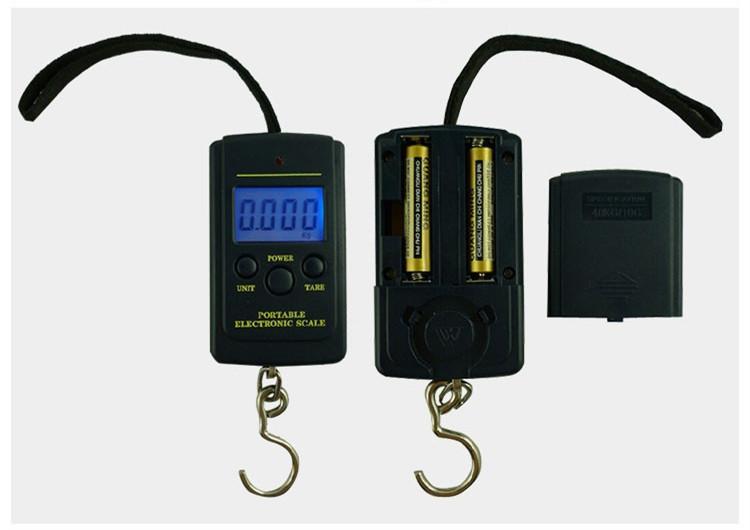 Pocket Electronic Digital Scale 0.01g * 40kg Hanging Luggage Weight Balance Steelyard Black Libra