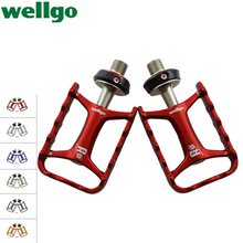 Wellgo Ultralight Pedal Aluminum/alloy Bearing Pedales Bicicleta Bicycle Parts Folding Mountain Bike Pedals New Limited Spd Mtb(China (Mainland))