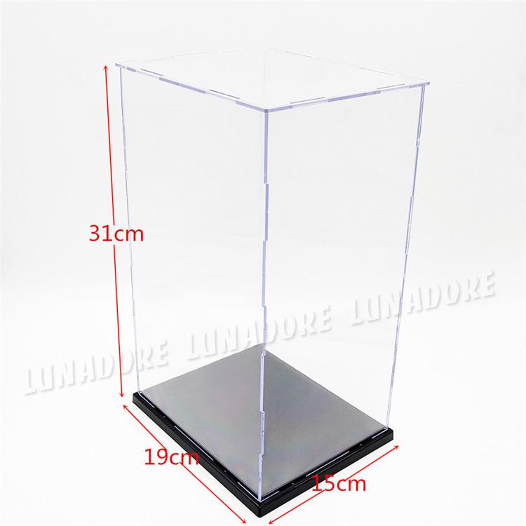 "US warehouse/shipments.Clear UV Acrylic/Plastic Display Case Plastic Showcase Box Tray Protection 7.41""(L)x5.85""(W)x12.09""(H)(China (Mainland))"