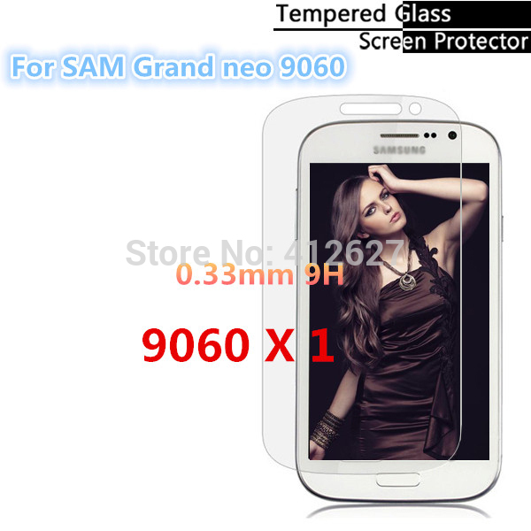 High quality Tempered glass Screen Protector Film for Samsung Galaxy Grand Neo I9060 Free shipping