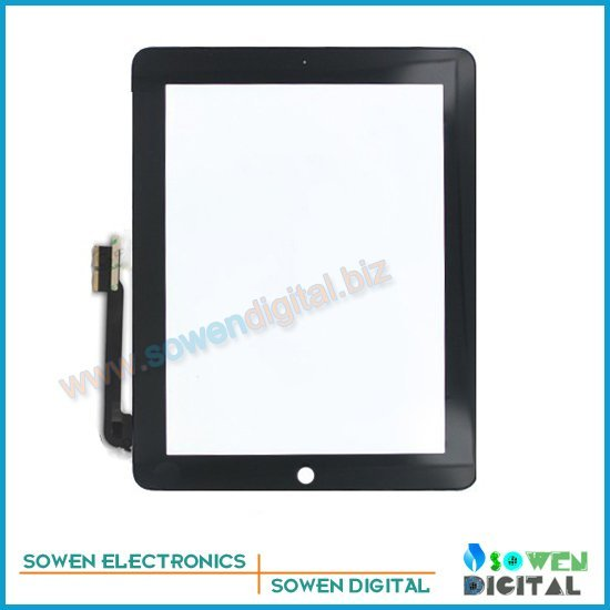 for the new ipad 3 Touch screen digitizer Touch panel White or Black,100% Original new,1set 3M adhesive Free, Free shipping
