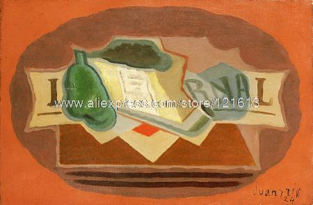 Juan Gris Packet Of Tobacco Abstract On Hand Painted Art Deco Famous Artists Modern African Painting Cheap Cou(China (Mainland))