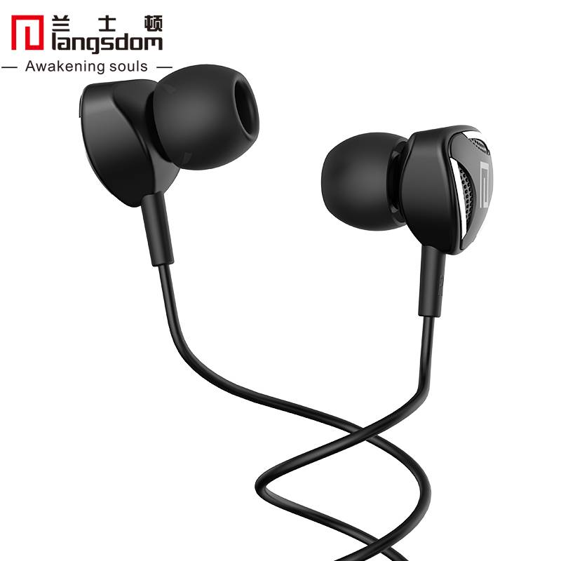 Langsdom P3I 3.5mm In-ear Earphone Heavy Bass Volume Control Headphone with Microphone White 2015<br><br>Aliexpress