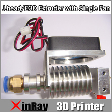 J-head/E3D Printer Head Extruder with Fan Short Range 12V 100K Thermistor 0.4 Nozzles 1.75mm Filaments 3D Printer Head 3DA-002A