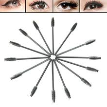 E93 50pcs Makeup Disposable Eyelash Mini Brush Mascara Wands Applicator Spoolers
