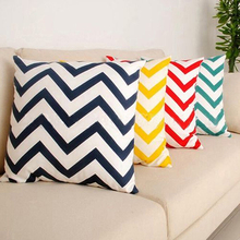 Buy 2015 New Ripple Chevron Zig Wave Linen Cotton Cushion Cover Home Decor Throw Pillow Case Christmas Gift 6LQG for $2.33 in AliExpress store