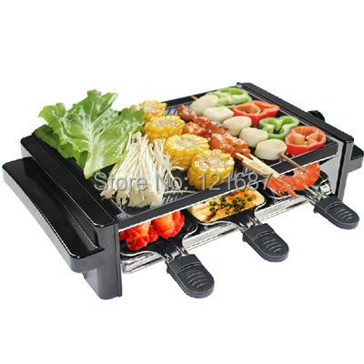 2015 Korean kitchenware008 smokeless indoor electric grill Korean household electric ovens electric teppanyaki barbecue plate(China (Mainland))