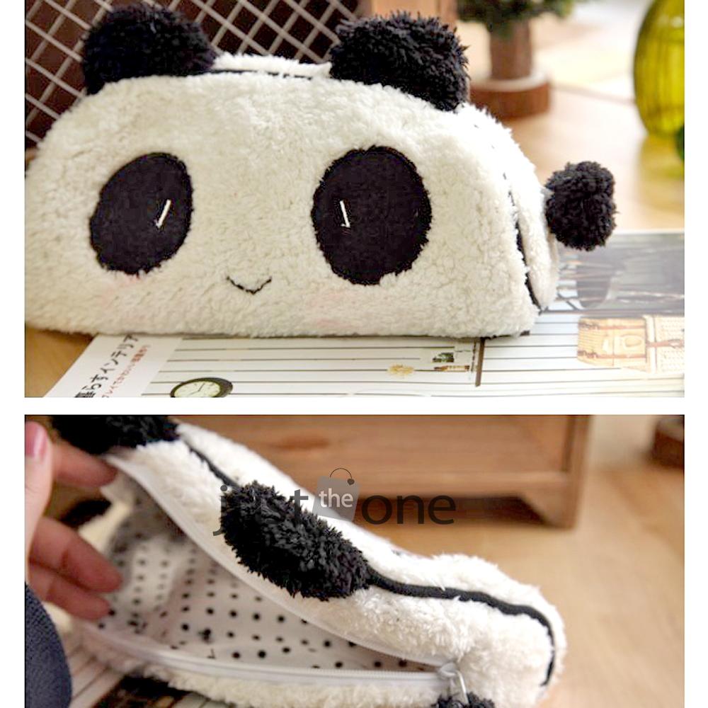 Cute Soft Plush Panda Pencil Pen Card Case Cosmetic Notebook Makeup Bag Pouch(China (Mainland))