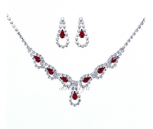 Free Shipping 3pcs/lot Fashion Bridal Necklace Set Cheap Hot Sale Women Costume Jewelry Sets Wedding Decoration Christmas Gift