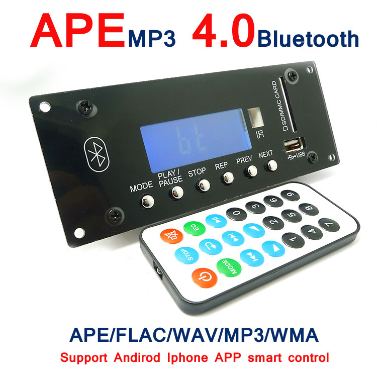 Wireless MP3 Decoding Board 4.0 Bluetooth Audio Module USB SD Radio APE FLAC WMA AUX External Signal Source Interference Board(China (Mainland))