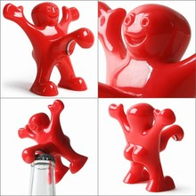 HOT Happy Man Beer Bottle Opener Novelty Christmas Xmas Gift for Friend Red Color Exvellent Quality