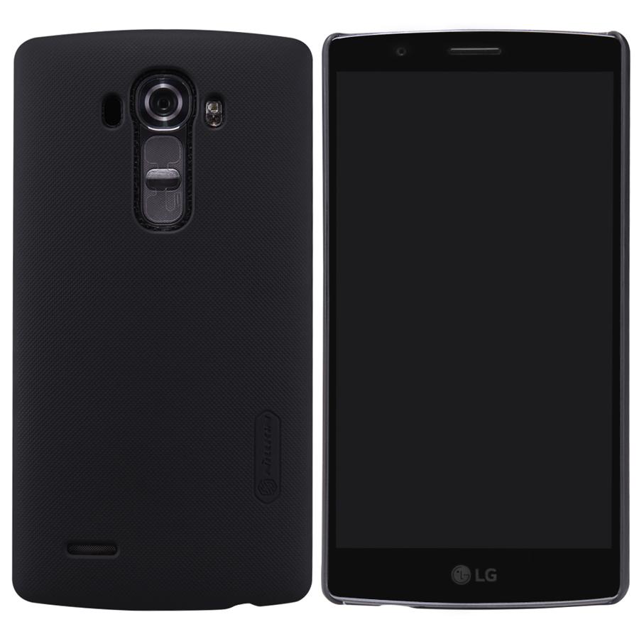 LG G4 /H810/H815/H818/VS999/F500 Case, Nillkin Black Hard Matte Skin Shell Cover Case LG G4 (G 4) Gift Screen Protector