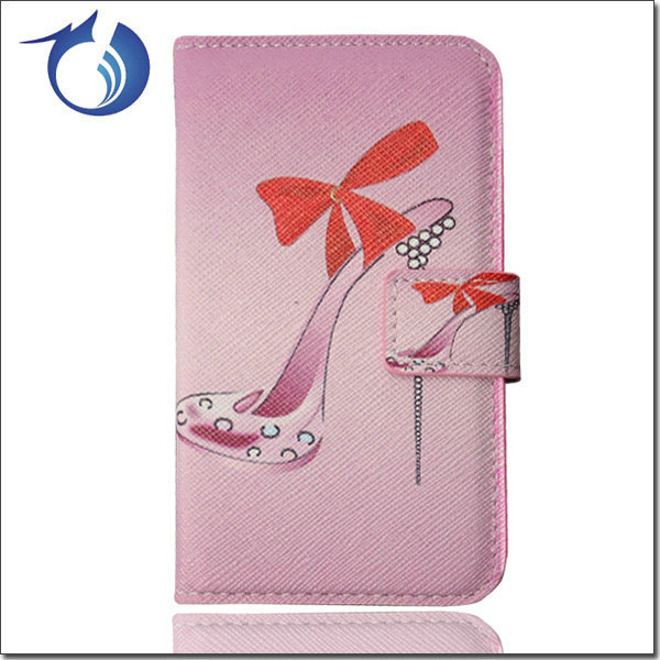 Free Shipping nice design leather flip case for Sony xperia z l36h