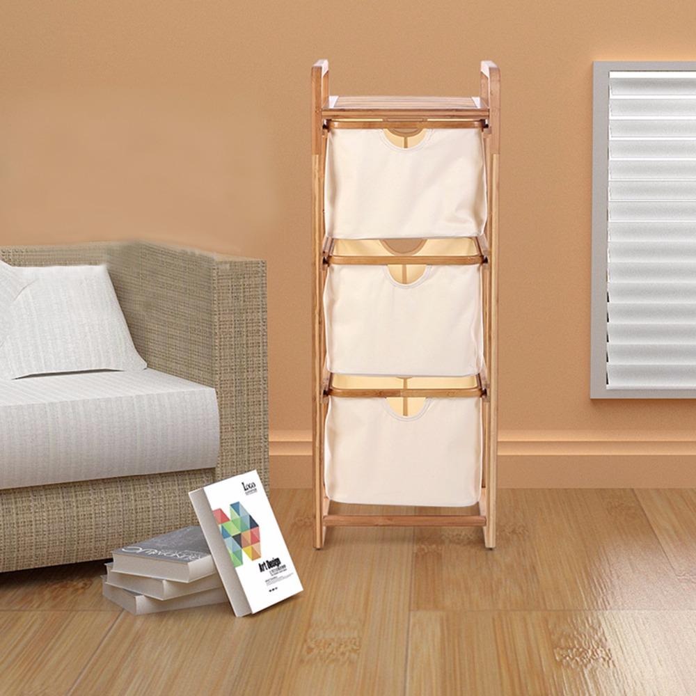 Bathroom Shelves Three-Layer Bamboo Storage Holders&Racks Floor Type Racks For Kitchen Bedroom House Accessory Shelves Sundries(China (Mainland))