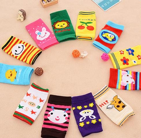 Hot Sale Cotton Cartoon Knee Children Lovely Boys And Girls Baby Knee Pads Baby Legs Warmers Boy Gril General Warmers(China (Mainland))