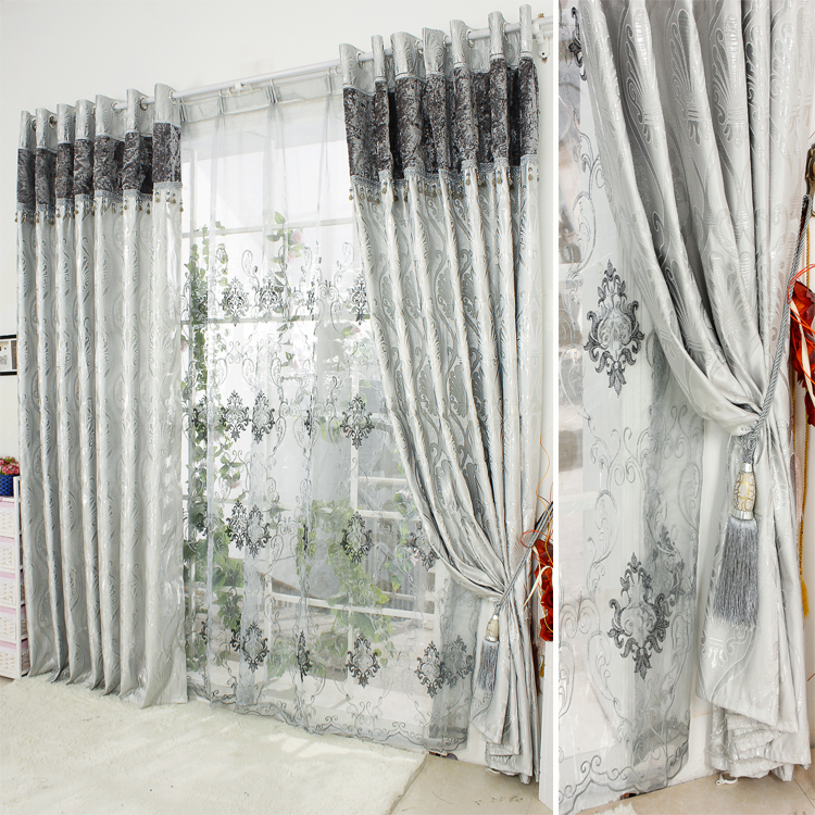 New arrival modern window curtains quality silveryarn - Modern fabrics for curtains ...
