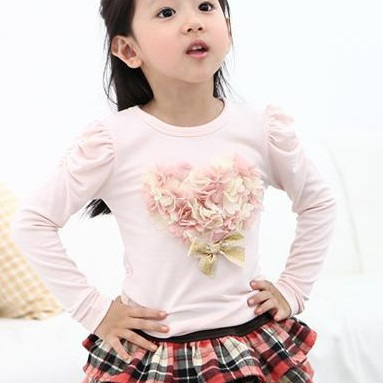 girls jumpers t-shirts kids tshirts flower tops outfits girls bottoming shirts tees shirts sweatshirt blouse girls clothes Z38<br><br>Aliexpress