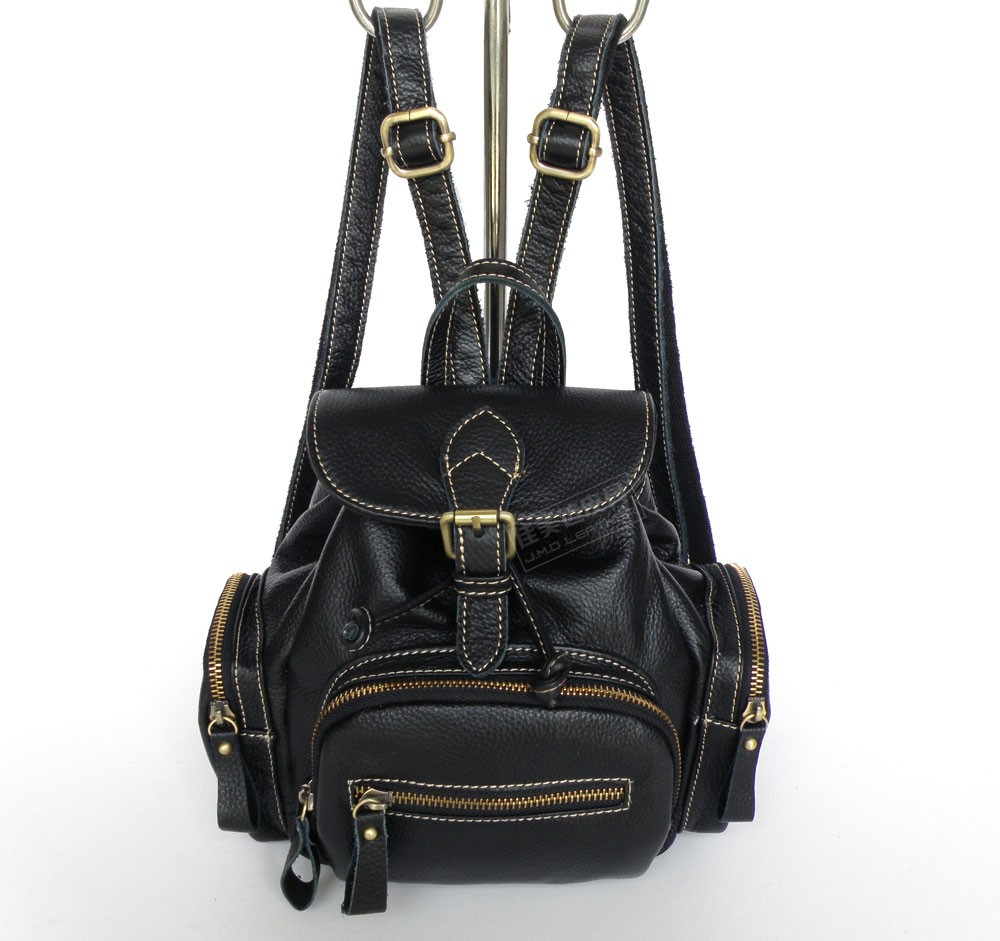 free shipping women genuine leather small back pack