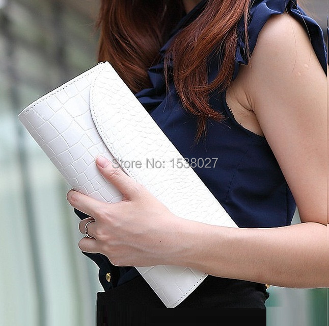 2015 New alligator Women summer bag Leather handbag with belt Long Billfold famous brand lady shoulder bags party evening Purses(China (Mainland))
