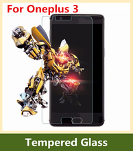 For Oneplus 3 Tempered Glass High Quality Premium 9H Screen Protector Film For One plus Three Mobile Phone + Free shipping
