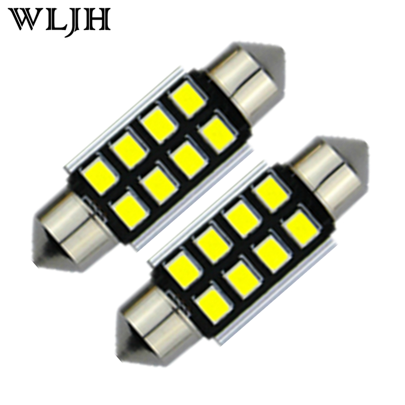 10pcs White C5W 36mm CANbus LED Error Free Bulbs For Samsung Chip 2835 SMD License Plate Light For BMW Audi VW Porsche Mercedes(China (Mainland))