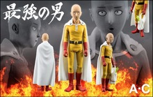Saitama Sensei Figure One Punch Man Figure One-Punch Man 150MM AC TOYS Original PVC Kids Toys Juguetes Model Doll Toy Gift
