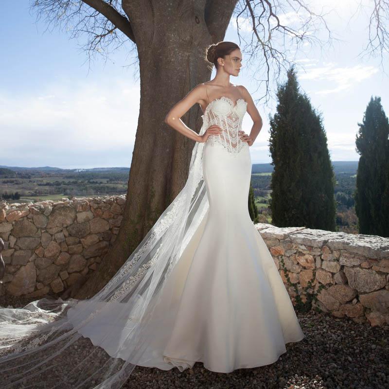 Vestido de novia 2016 gorgeous see through wedding dresses for Customize my wedding dress