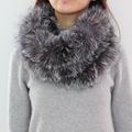 S1427 Grade A Quality Ladies Real Rex Rabbit Fur Scarf Women Winter Neck Warm Neckerchief Retail / Wholesale