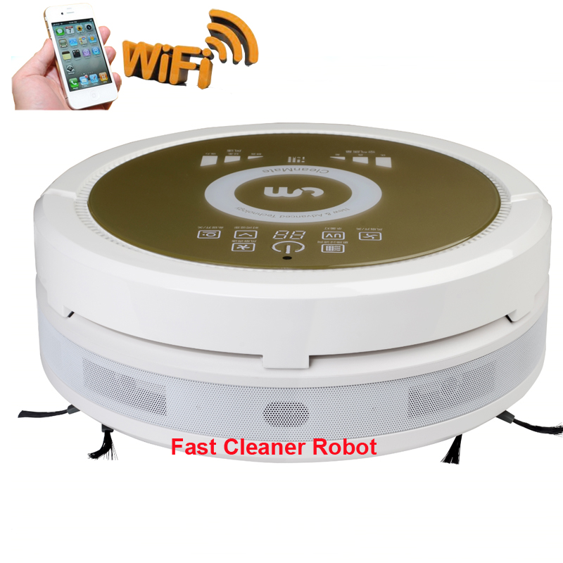 Robot Vacuum Cleaner with Newest WIFI APP Smartphone Control,Working with Air Purifier makes Fresh Air for your Baby and Family(China (Mainland))