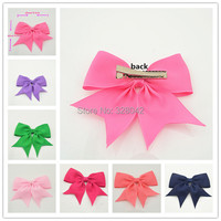 2014 Free Shipping high quality grosgrain ribbon hair bows,children hair accessories,baby girl hair bows WITH CLIP,19pcs/lot