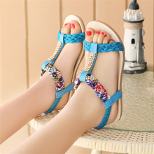 Summer women sandals 2016 gladiator sandals women shoes rhinestone soft bottom flat shoe sandalias mujer ladies shoes flip flops