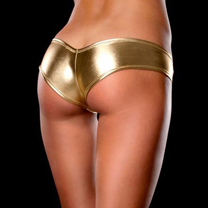 Sexy Underwear Women Panty Metallic Metallic G-Strings Thongs Girls Intimates Pant For Women Briefs 10 Color Sexy Lingerie Hot