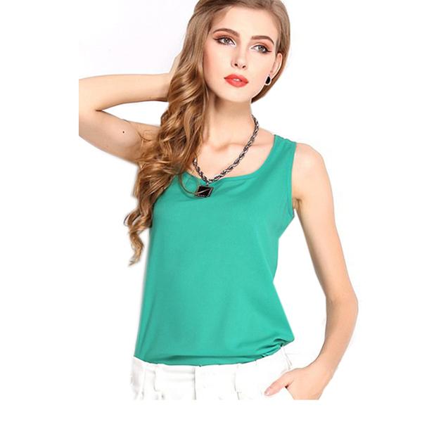 blusas femininas 2015 Tank Cute Candy Color Women Blouse Tropical Casual Chiffon Blouse Shirt Cheap Clothes China ropa mujer XXL(China (Mainland))