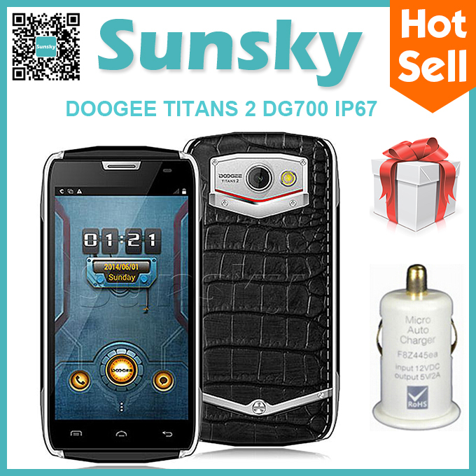 Free Back Cover DOOGEE DG700 TITANS 2 IP67 CM11 OS Waterproof MTK6582 MobilePhone Android 5.0 4.5inch 1GB 8GB 5MP 3G OTG 4000mAh(China (Mainland))