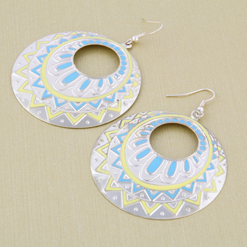 2015 hearts of carve patterns or designs on drip disc type hook   woman earrings