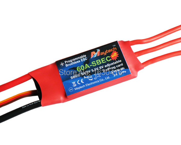 Maytech rc HX Type ESC 60A with BEC electronic speed controller for radio control heli vertiplane aerial machine(China (Mainland))