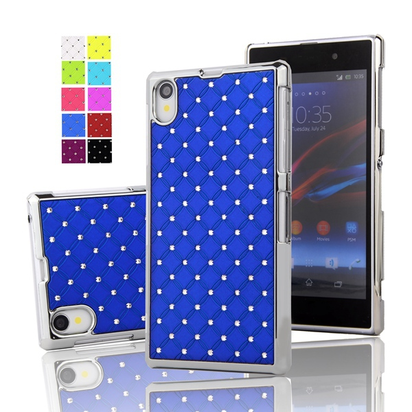 Z1 Bling Bling Crystal Rhinestone Diamond Hard Case for Sony Xperia Z1 L39H C6902 C6903 C6906 Protective Mobile phone Back Cover(China (Mainland))